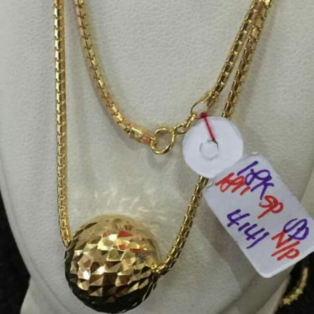 18k Saudi Gold Necklace And Pendant 100%genuine Pawnable/nasasangla Resellers Are Welcome