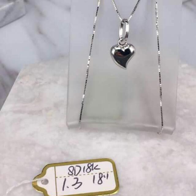 18k Saudi White Gold Necklace 100%genuine Pawnable/nasasangla Resellers Are Welcome