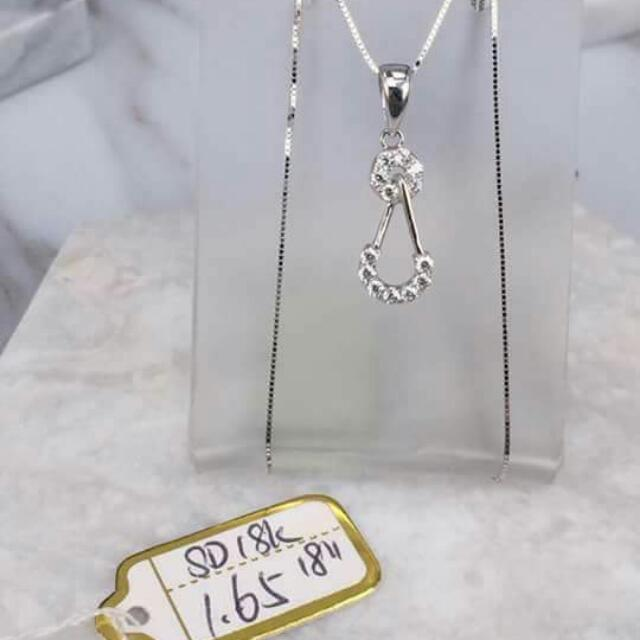 18k Saudi White Gold Necklace And Pendant 100%genuine Pawnable/nasasangla Resellers Are Welcome