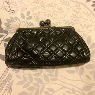 Shiseido Black Leather Clutch