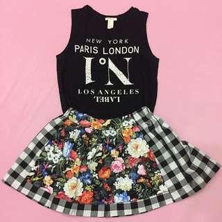 Sleeveless And Skirt Set