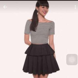BNWT Love Bonito Black Sorchia Skirt