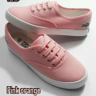 Salmon Pink Lacoste Shoes