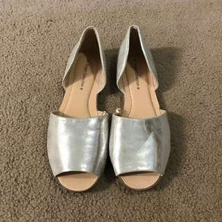 Target Silver Flats Size 6