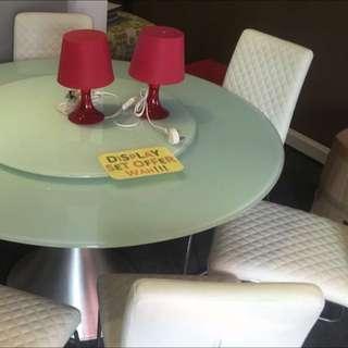 1+6 glass top dining set