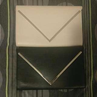 Black & Beige Envelope Clutches