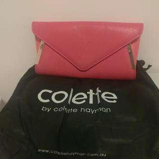 Colette Hot Pink Clutch