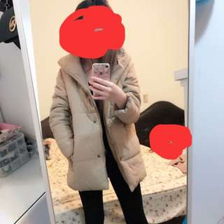 駝色保暖外套