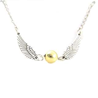 Harry Potter Silver Tone Golden Snitch Necklace