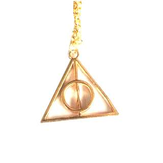 Harry Potter Golden Deathly Hallows Triangle Pendant