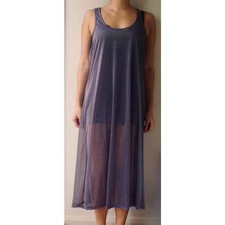 Staple Transparent Purple Dress