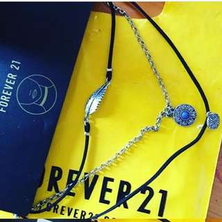 3 IN 1 NECKLACE & CHOCKER BY FOREVER 21