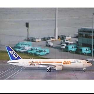 BNIB ANA 1:400 Scale Die Cast Star Wars BB8 - R2D2 Aircraft Plane