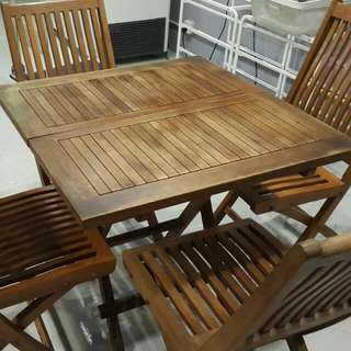 Premium Teakia Wooden Table & Chairs