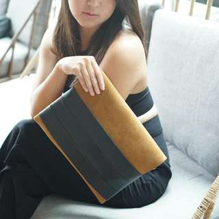 Celine Brown Suede Clutch By Legra.id Bag