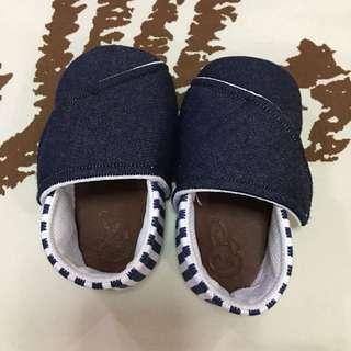 Sepatu Bayi Baby Shoes Navy Stripes, panjang 13 cm