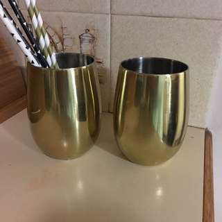 Gold Metal Cups
