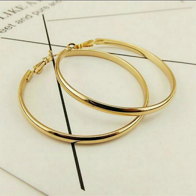 現貨💋歐美性感5.5mm大圈圈耳環 夜店圈圈耳環