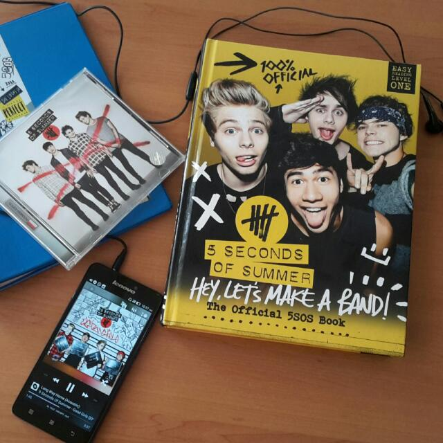 5 Seconds Of Summer (5sos) Official Book Hey Let's Make A Band! (Ori-impor)