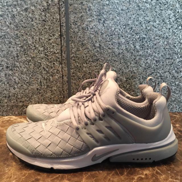 9成新 Nike 灰色編織魚骨鞋