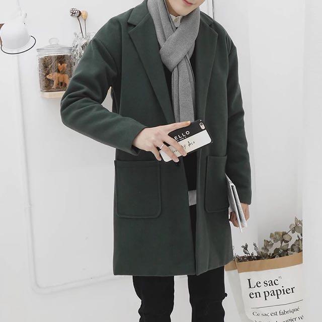 「超質感韓毛呢大衣」