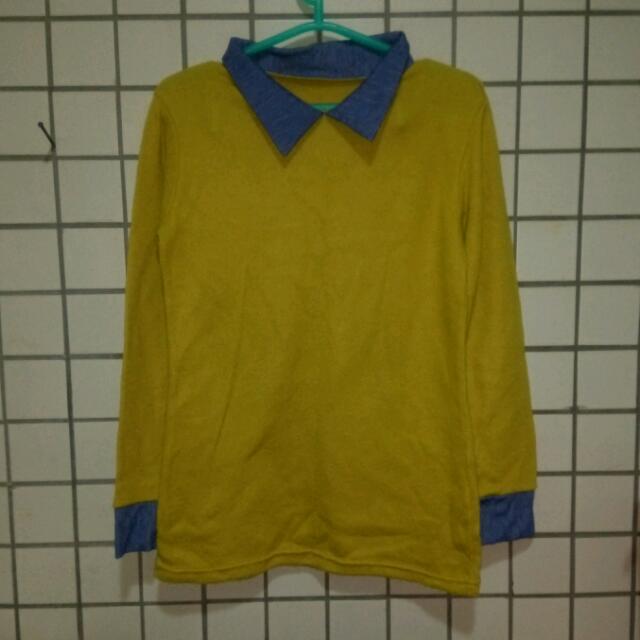 芥末黃襯衫
