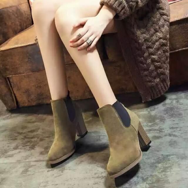 歐美新款 春秋短靴