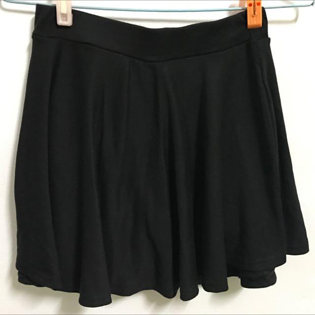 黑色傘裙 褲裙 內有安全褲