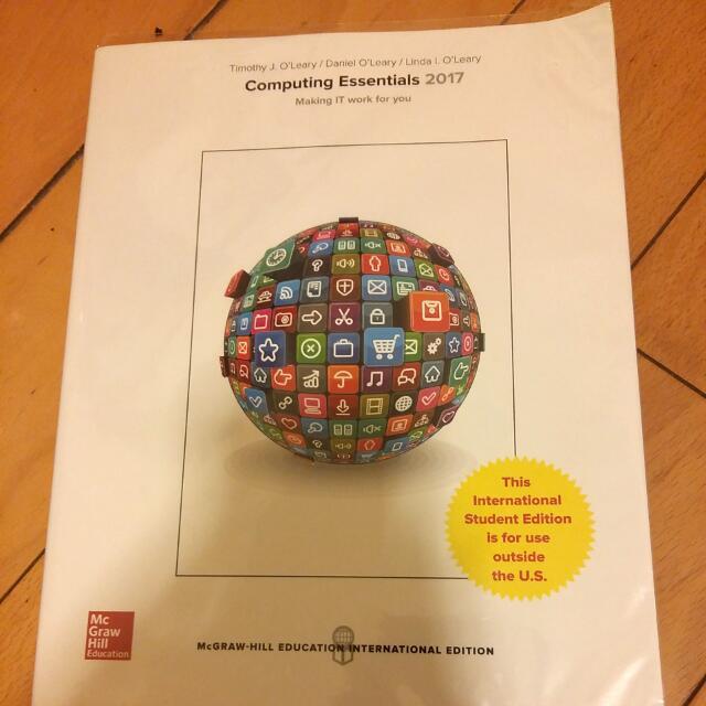 【#教科書出清】 計算機概論 Computing Essentials 2017 #我有課本要賣