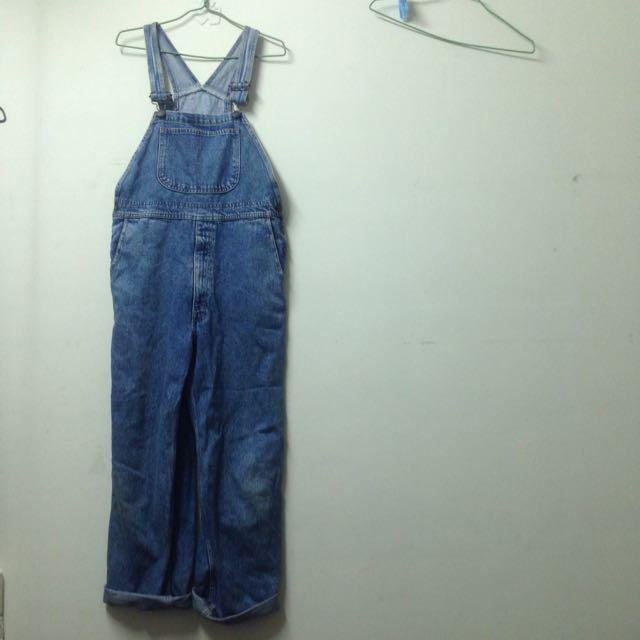 日本製 Levis牛仔吊帶褲