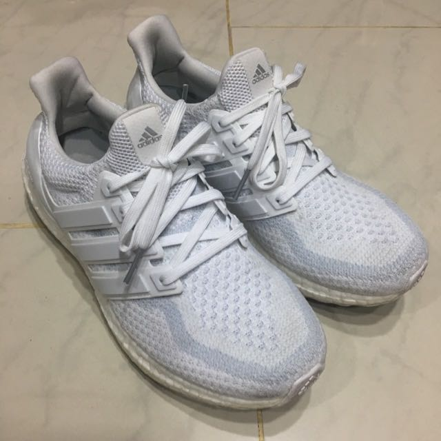 Adidas Ultra Boost Triple White 2.0 Mens US 9
