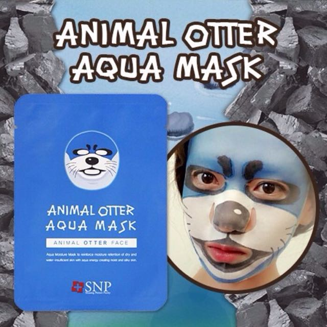 Animal Otter Aqua Mask SNP/ Masker Hewan Animal Original Collagen