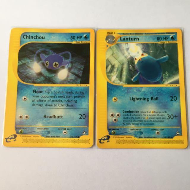 Pokemon CHINCHOU 70//147 Aquapolis MINT!