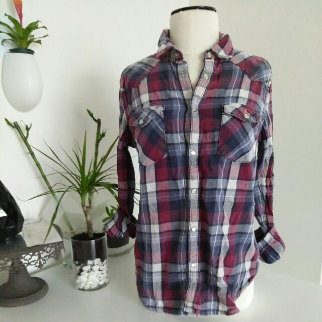Aritzia: TNA Classic Fit Plaid Shirt