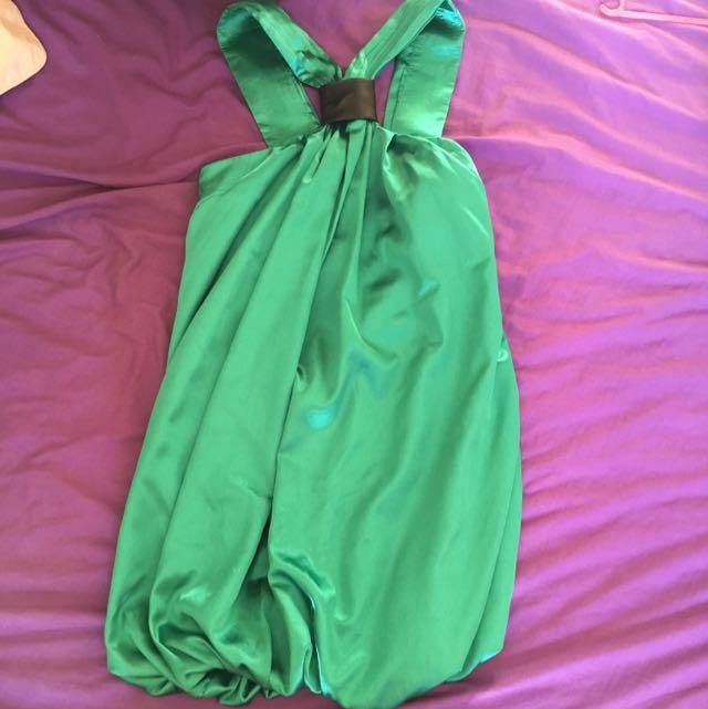 Aviva Dress Gasp Size Small Emerald Green