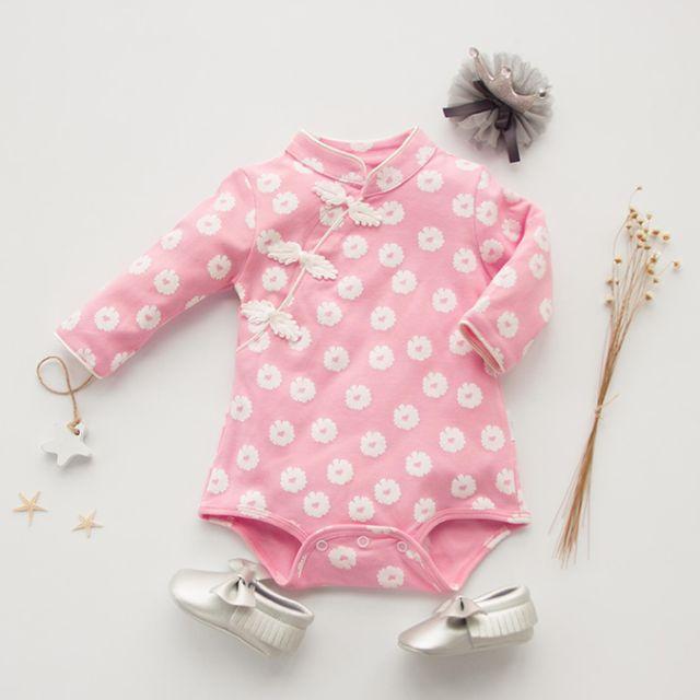 333e35d39 Baby Cheongsam Rompers/ Newborn Baby Romper For New Year/ Full Moon ...