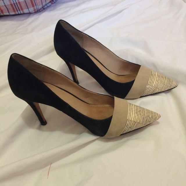 Beige / Black Heels