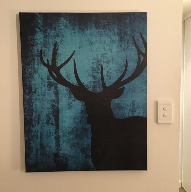 Blue Deer Canvas