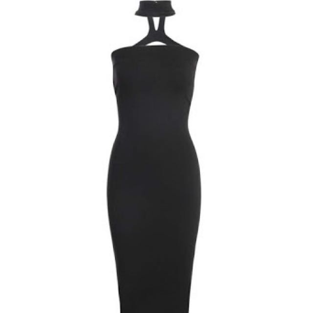 Boohoo Midi Dress - Black