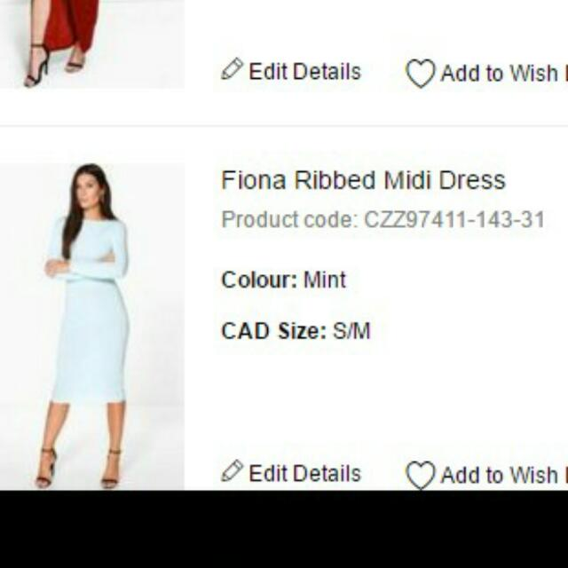 Brand New With Tags Mint Midi Dress Size S/M