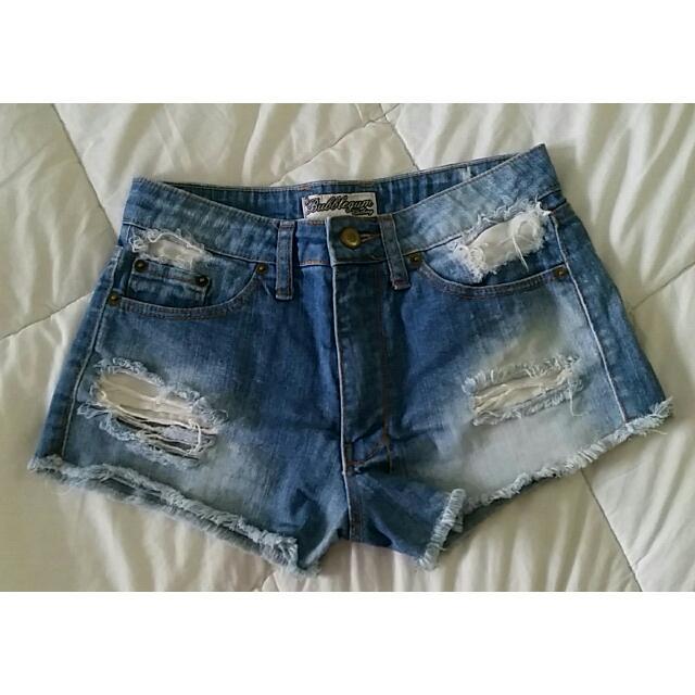 Bubblegum Denim Shorts