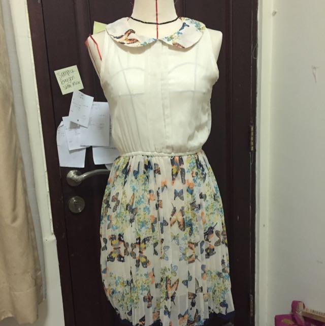 Butterfly Pattern Dress
