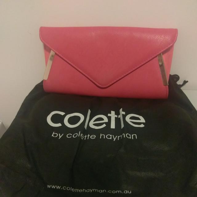 Colette Hot Pink Clutch