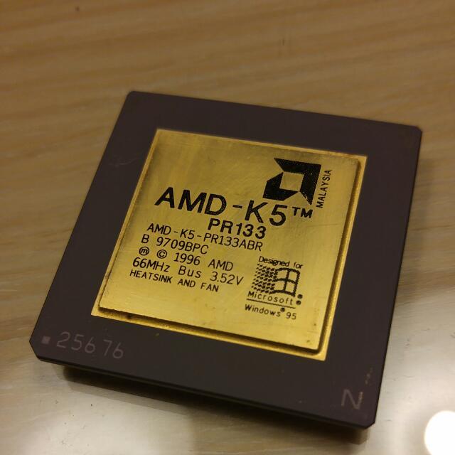 CPU收藏品-AMD K5 PR133