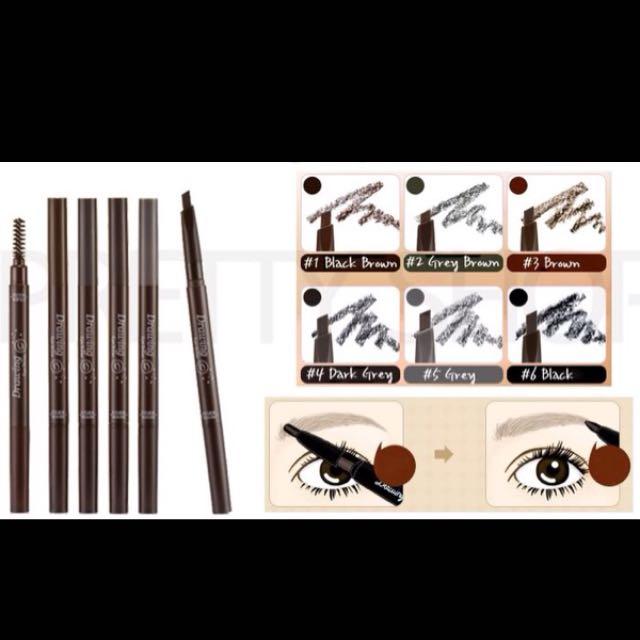 Eyebrow Pencil + Brush ETUDE HOUSE / Pensil Alis Original Made Korea