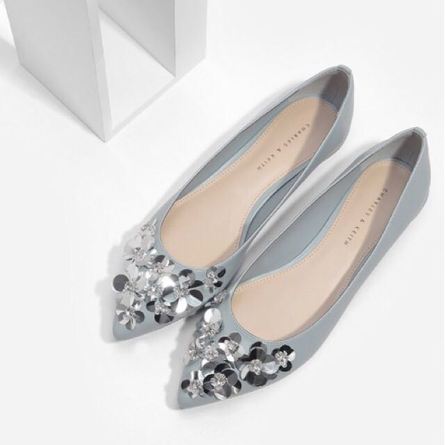 Floral Sequin Pump - Charles&Keith
