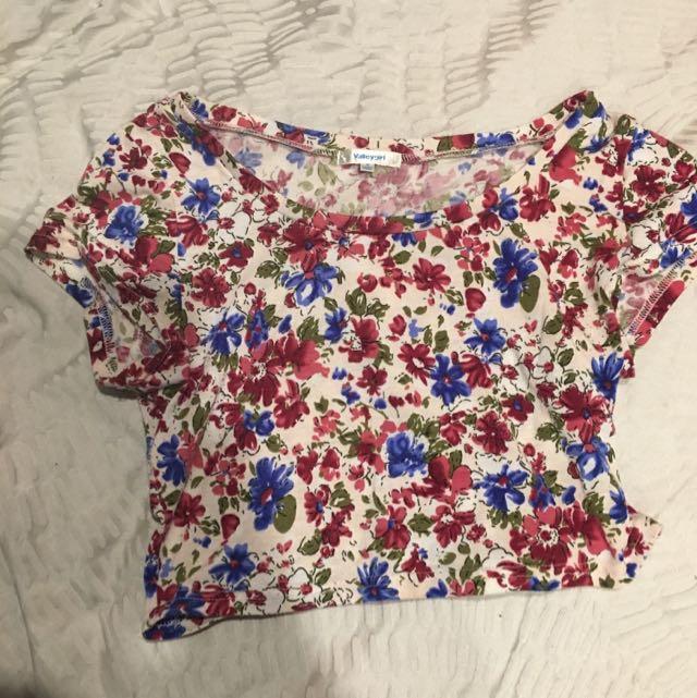 Floral  T-Shirt croc top