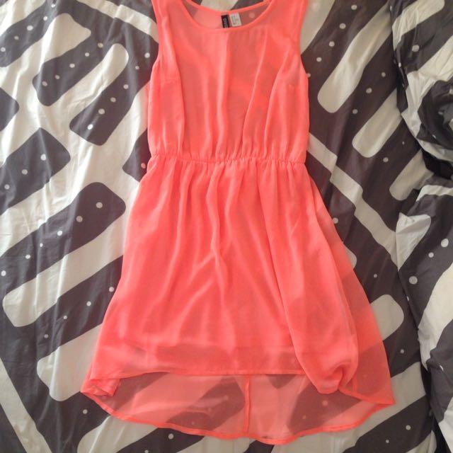Fluo Pink/orange Dress