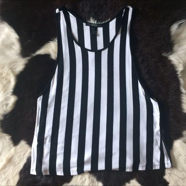 Forever21 Black&White Stripe Top
