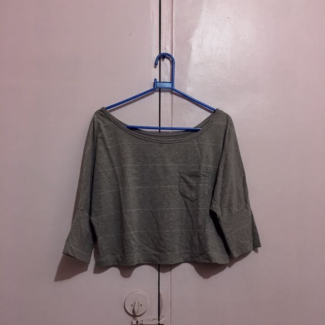 Gray Short Blouse